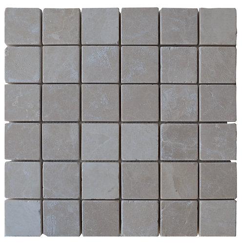"""Botticino Tumbled 2"""" x 2"""" Travertine Mosaic Tile"""