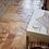 Thumbnail: Peach Blend Brushed Chiseled French Pattern Travertine Tile