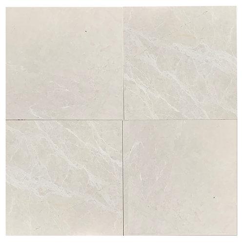 "Snow Cream Honed 24"" x 24"" Marble Tile"