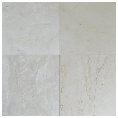 "Crema Fantasy Polished 18"" x 18"" Marble Tile"