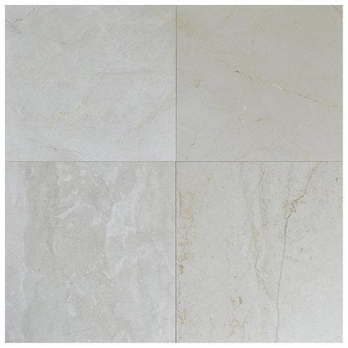 "Crema Fantasy Polished 24"" x 24"" Marble Tile"