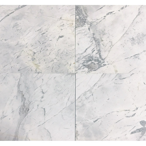"Volakas Polished 24"" x  24"" Marble Tile"
