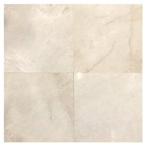 "Snow Cream B Polished 24"" x 24"" Marble Tile"