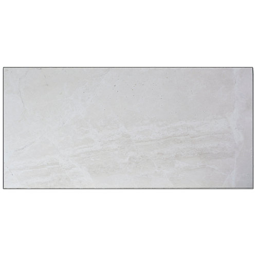 "Snow White Polished 18"" x 36"" Marble Tile"