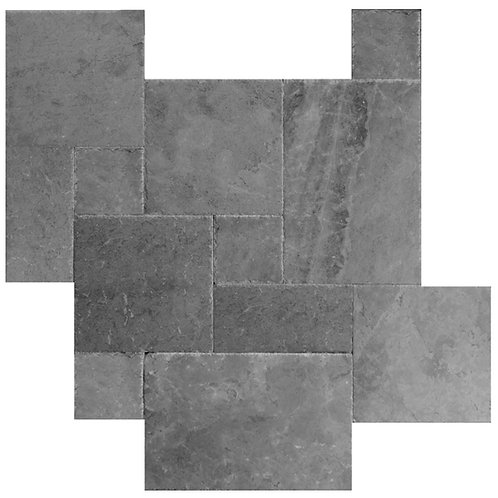 Silver Brushed Chiseled French Pattern Marble Tile