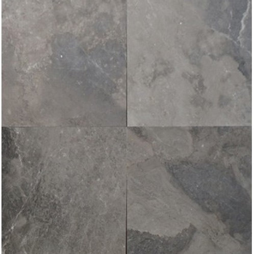 "Silver Grey Polished 24"" x  24"" Marble Tile"