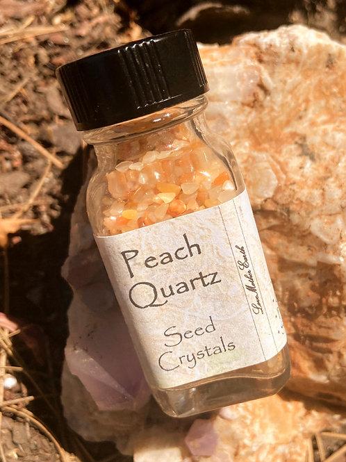 Peach Quartz Seed Crystal