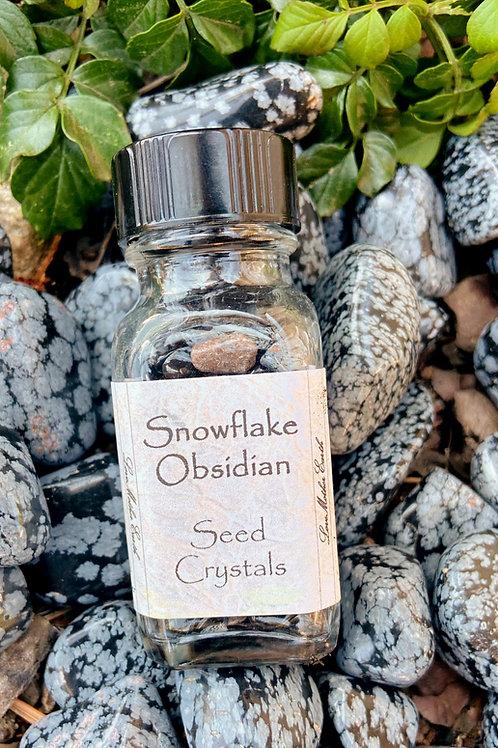 Snowflake Obsidian Seed Crystal