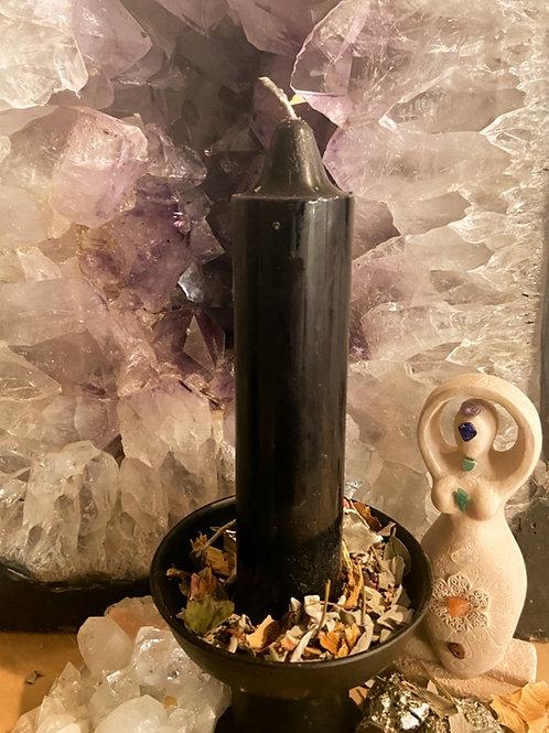 Black Jumbo Candle