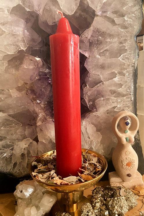 Red Jumbo Candle