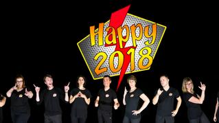 Bonne année 2018, drôle et pétillante!