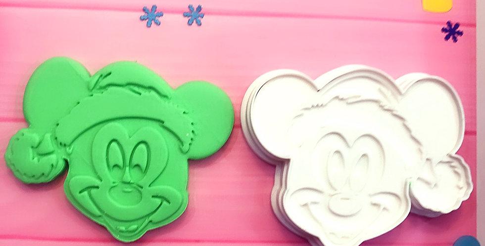 Tagliabiscotti- stampo Mickey Mouse Natale