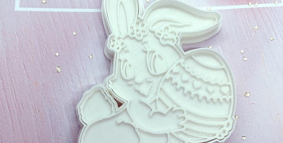 Set taglierina -stampo coniglio pasqua
