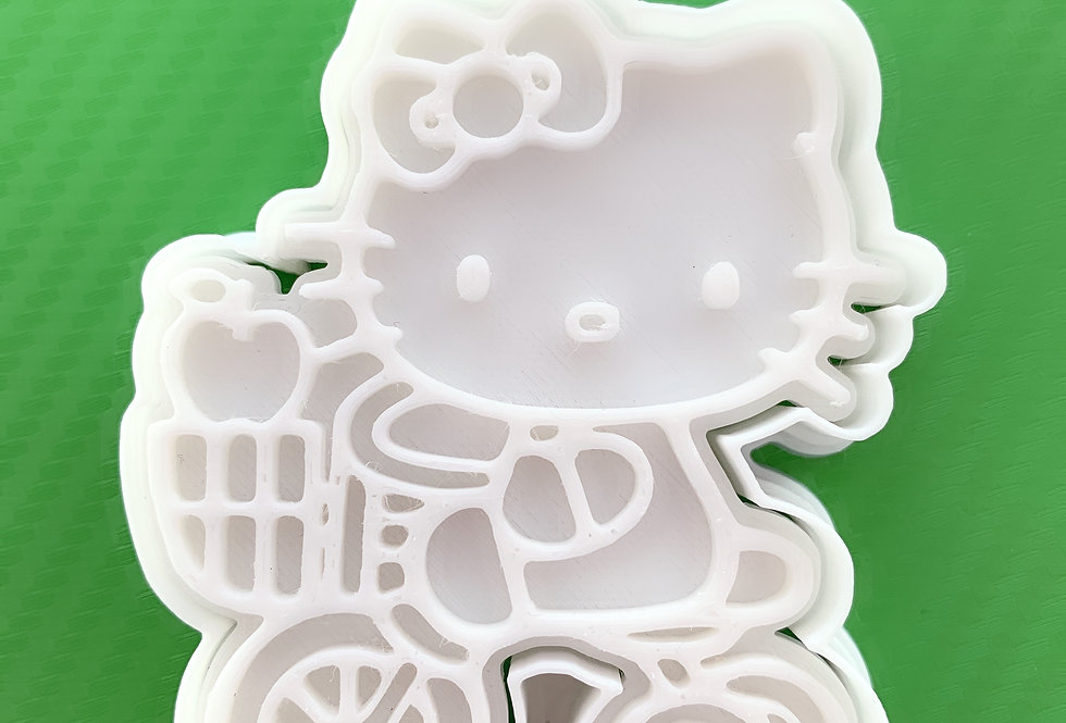 Set taglierina -stampo Kello Kitty bicicletta
