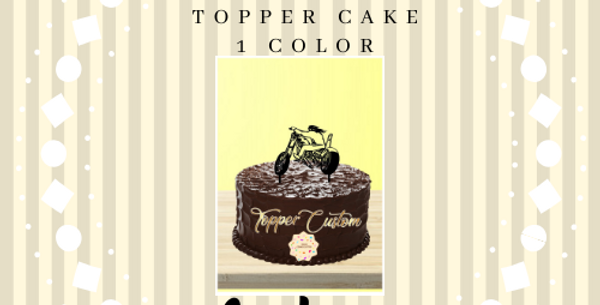 Topper Cake Custom 1 color
