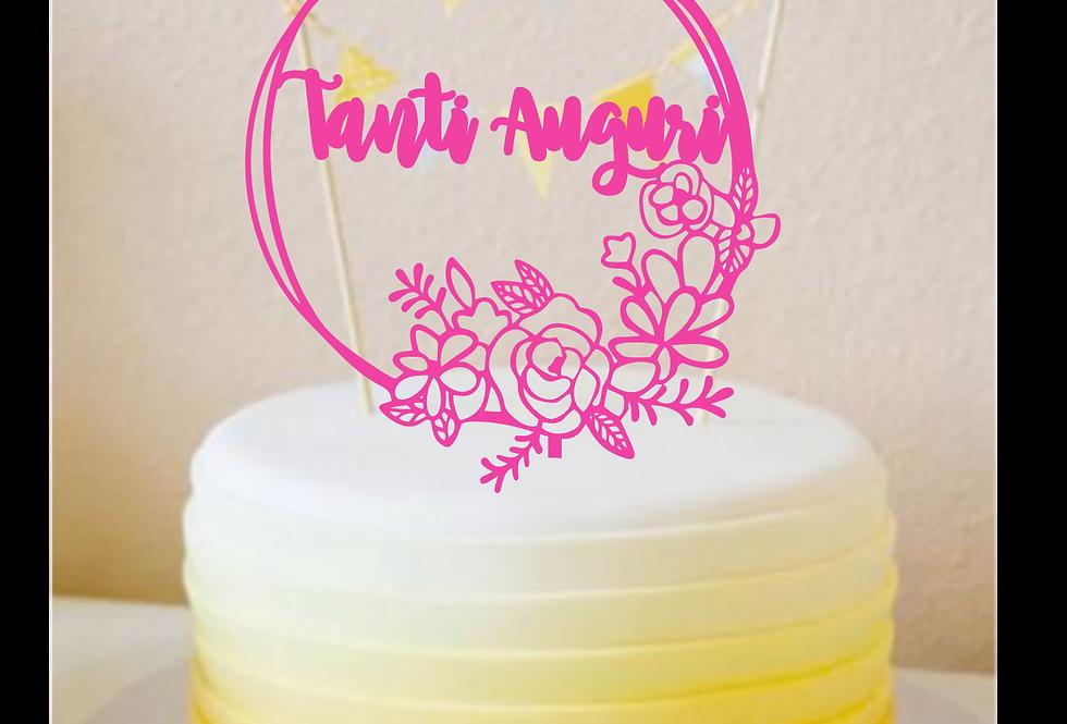 Topper Cake Tanti Auguri
