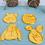 Thumbnail: Set taglia biscotti and stamp Winnie the Pooh 4 pz