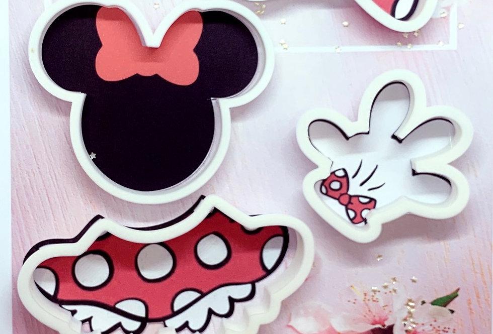 Set taglierina  5 Pz Minnie Mouse