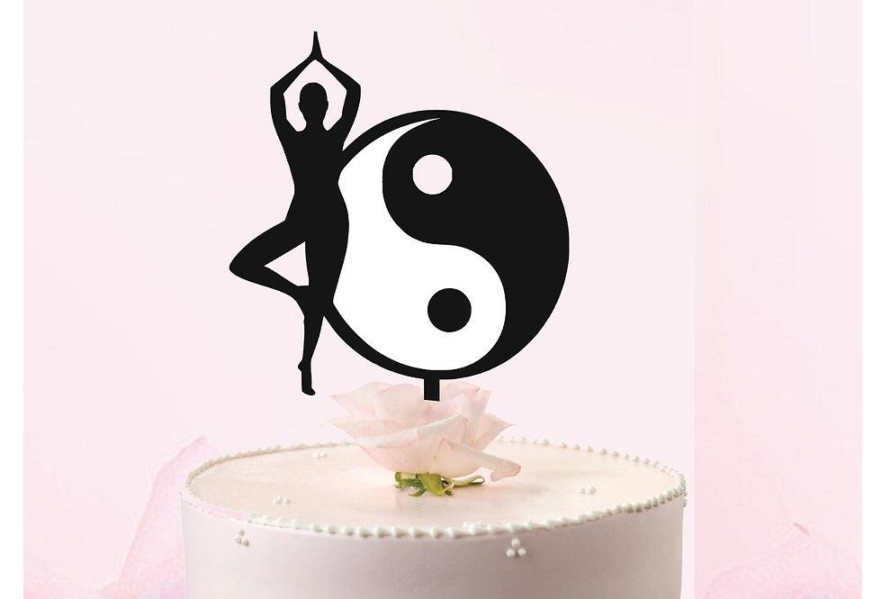 Topper Cake Yoga Ying Yang