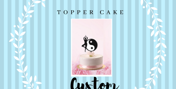 "Topper Cake Custom "" 2 color"""