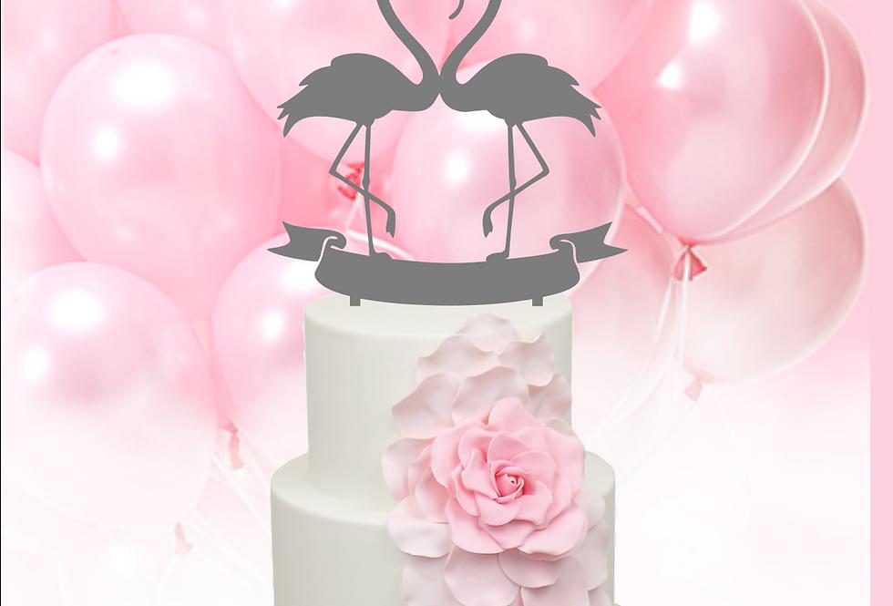 Topper Cake Fenicottero Love