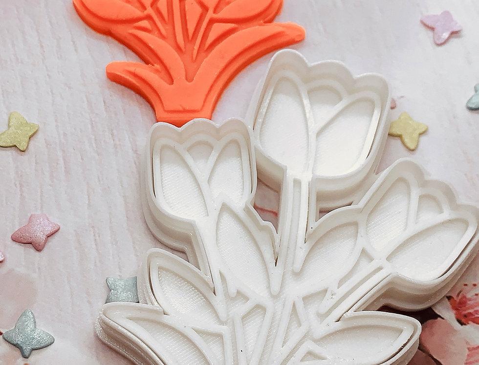 Tagliabiscotti- stampo mazzo di fiori