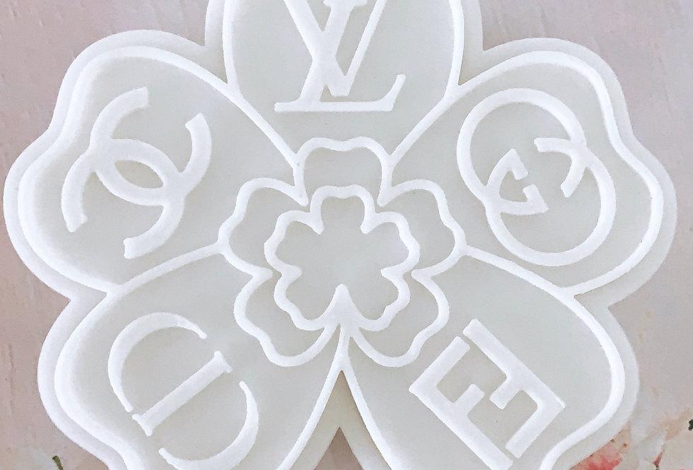 Set taglierina -stampo fiore con loghi Chanel,Dior,Fendi,LV,Gucci