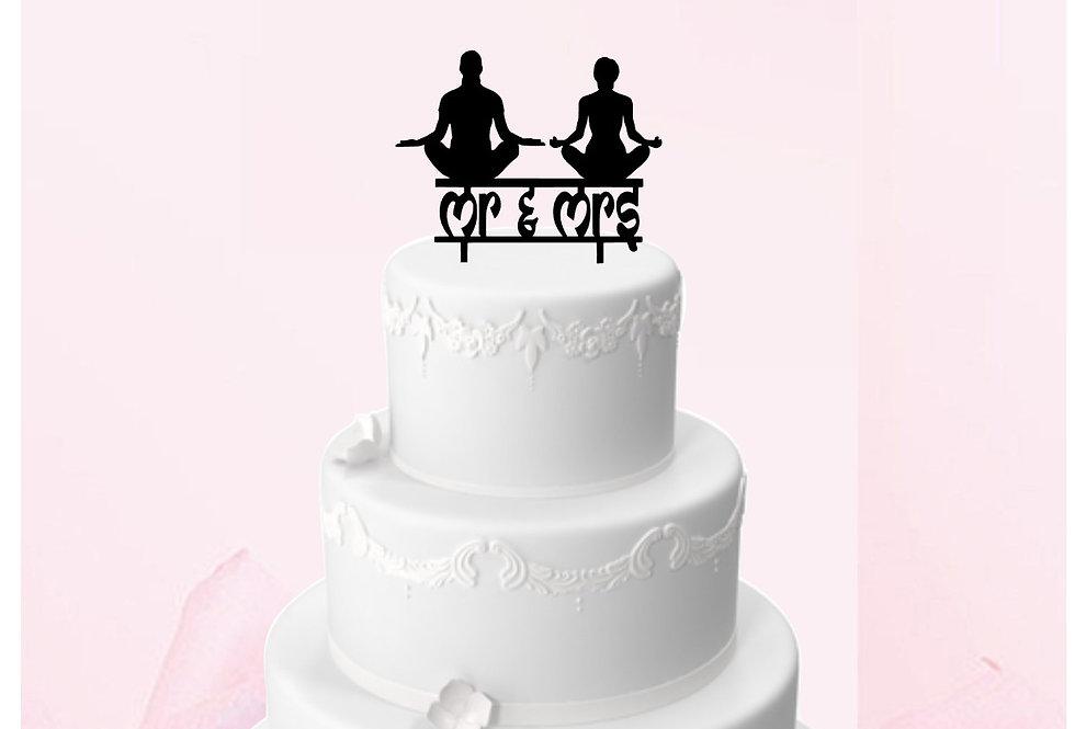 Topper Cake Meditazione e yoga  Mr e Mrs