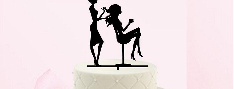 Topper per torta compleanno per hairstylist