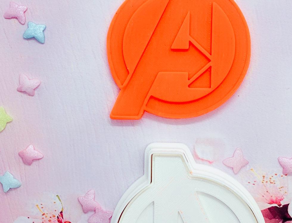Formina per biscotti con stampa Logo Avengers