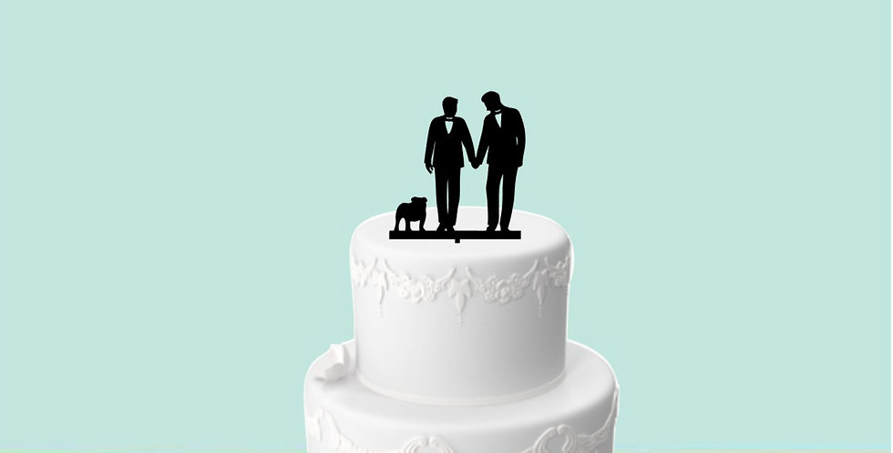 Topper Cake Mr. & Mr.