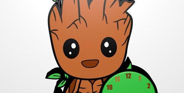 File STL orologio Baby Groot
