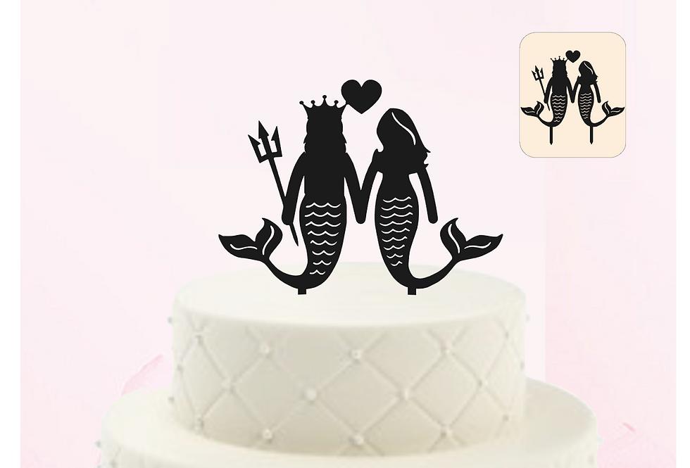 Topper Cake Mrs Mermaid