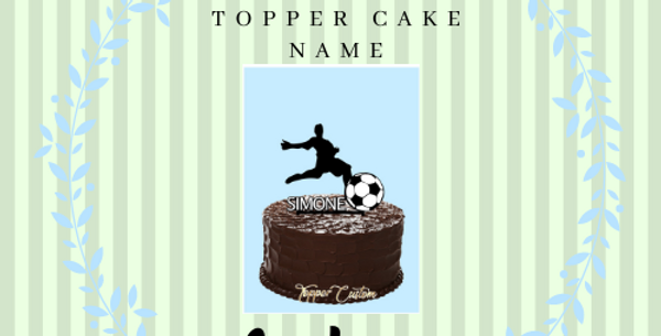 """Topper Cake Custom """" 2 colors and Name"""""""