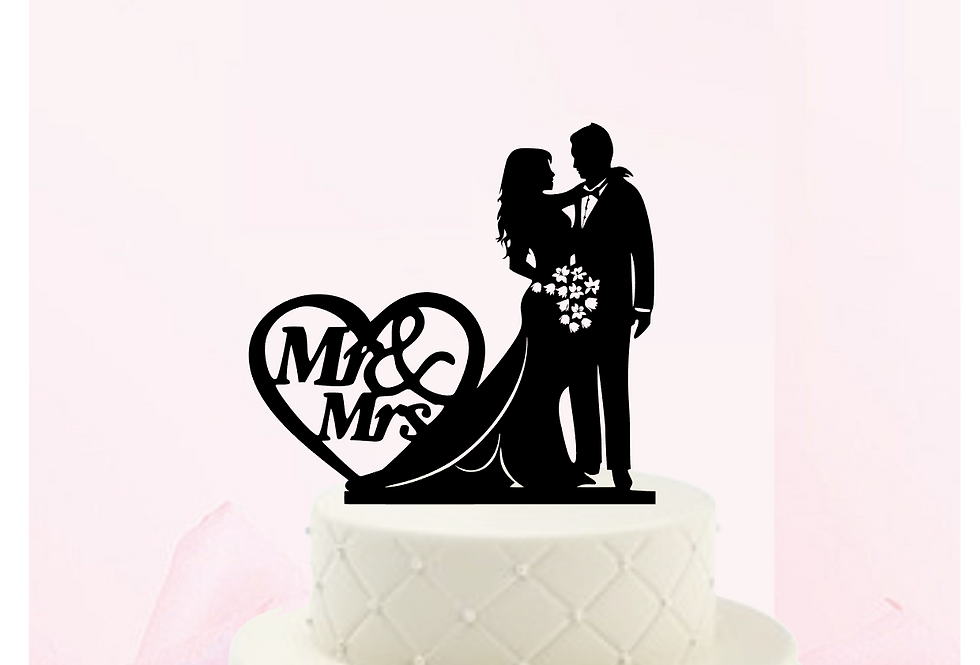 Topper Cake Mr & Mrs