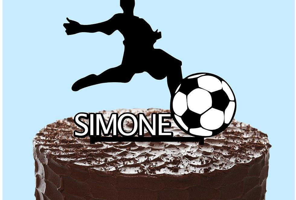 Cake topper  Calcio personalizzato Nome