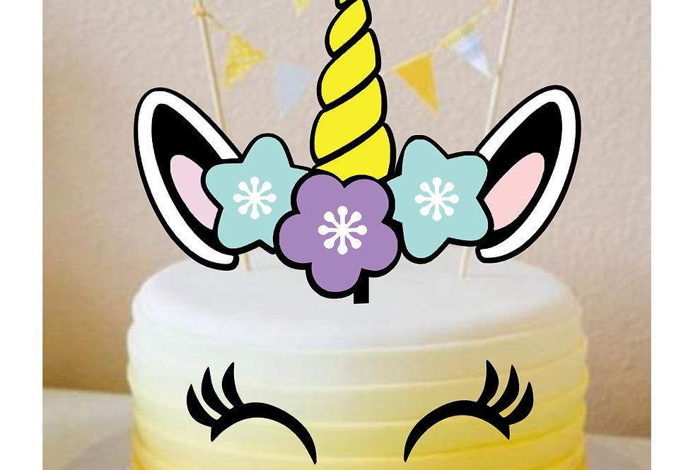 Topper Cake unicorno