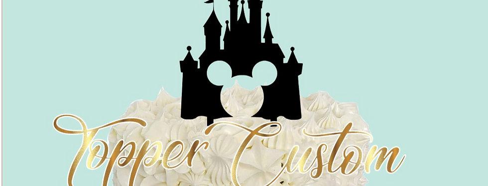 Topper per torta compleanno Castello Mickey Mouse