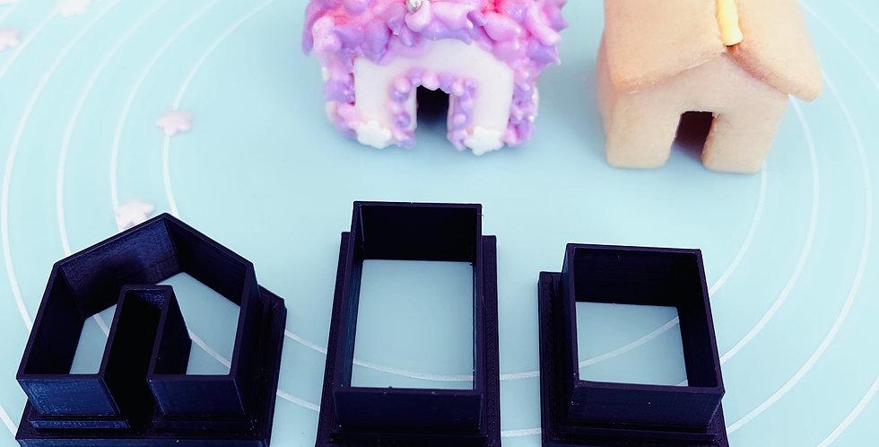 Taglia biscotti casa 3d per il caffè 3 Pz