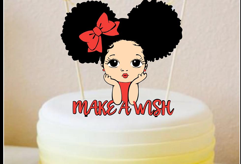 Topper Cake Make a wish (Esprimi un desiderio)
