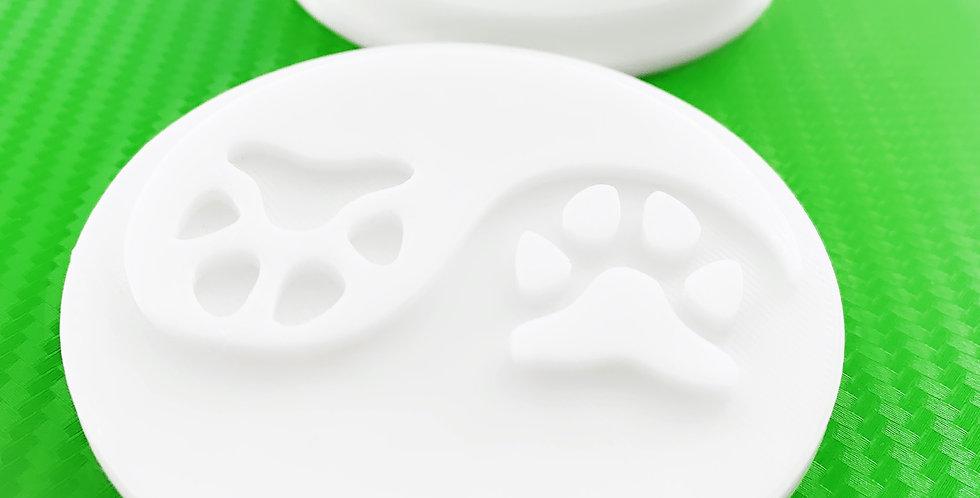 Tagliabiscotti- stampo tracce di cane ying yang