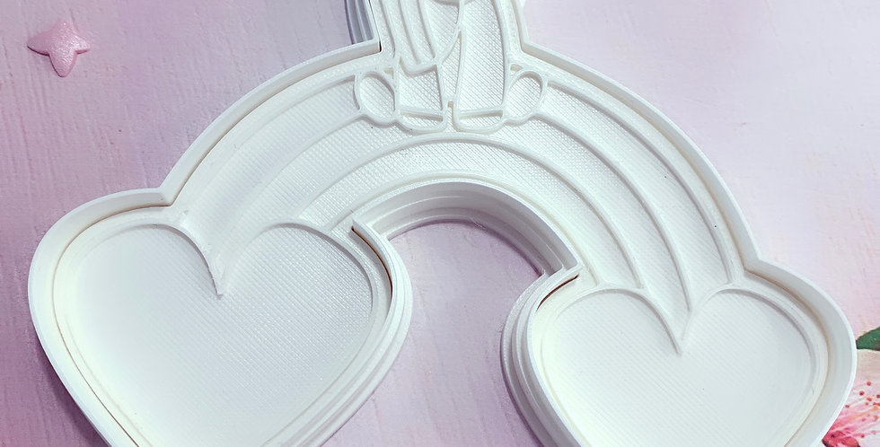 Set taglierina -stampo Unicorno Arcobaleno