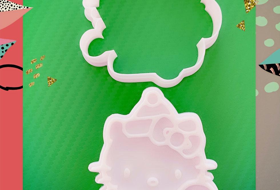 Set taglierina -stampo Kello Kitty Party