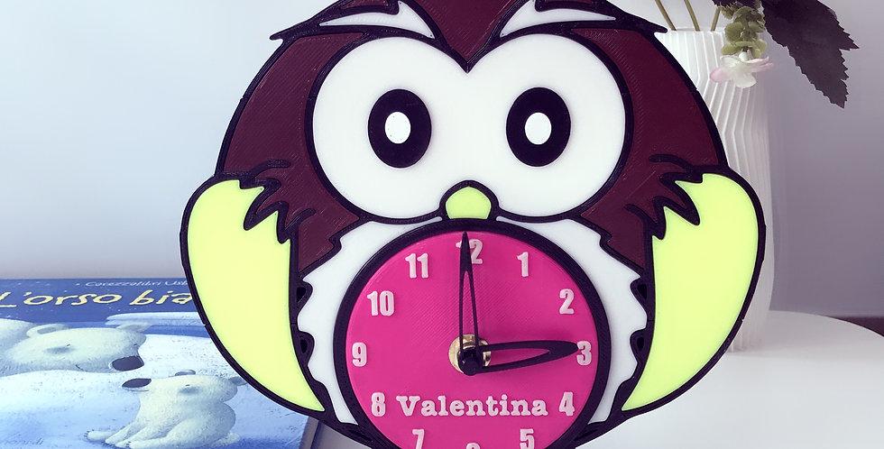 Orologio personalizzato Gufo