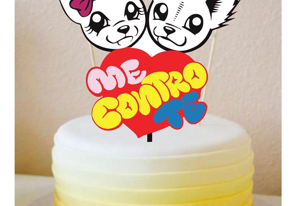 Topper Cake Me Contro Te