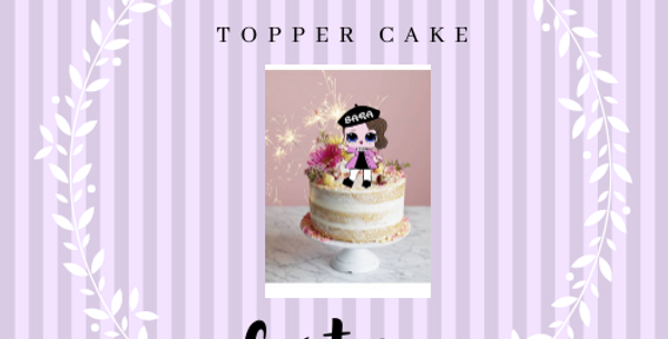 Topper Cake Custom Multicolore