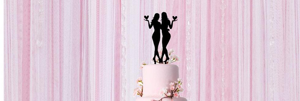 Topper Cake Mrs & Mrs