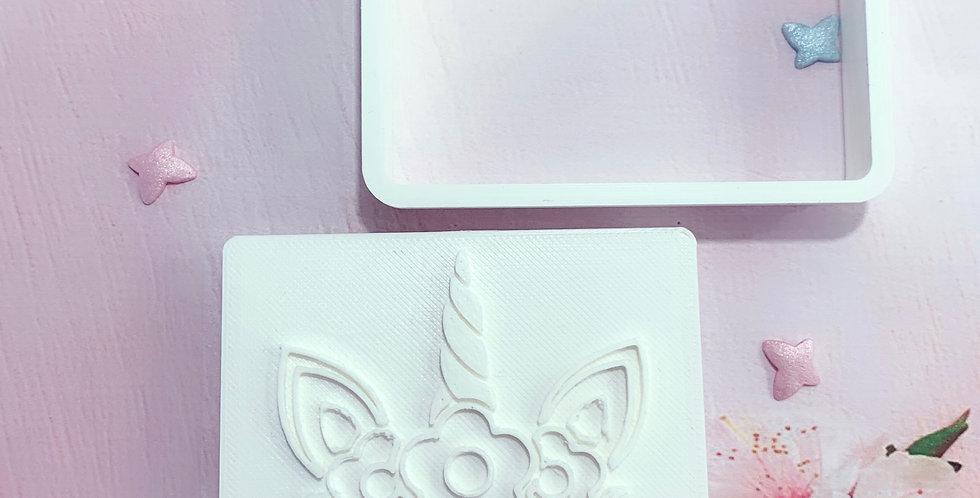 Set taglierina -stampo Unicorno Fiore