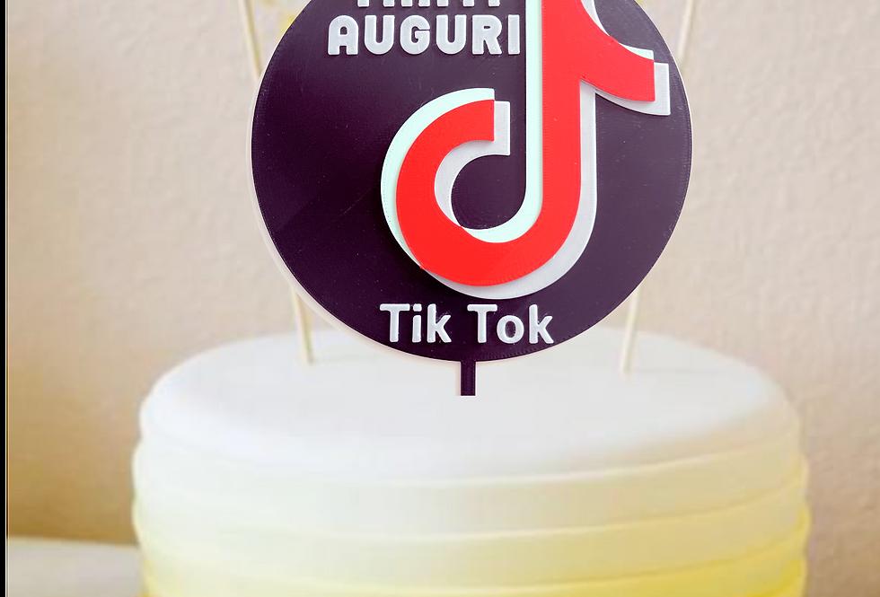 Topper Cake Tanti Auguri Tik Tok