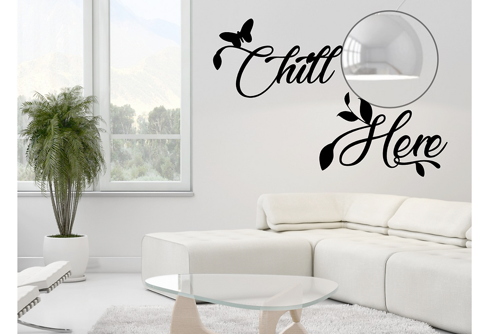 """Decorazione Muro """"Chill Here"""""""